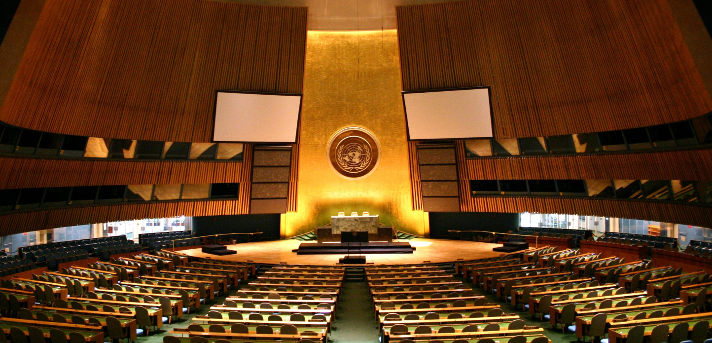 By Patrick Gruban, cropped and downsampled by Pine - originally posted to Flickr as UN General Assembly, CC BY-SA 2.0, https://commons.wikimedia.org/w/index.php?curid=4806869
